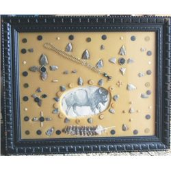 frame of points, buttons, beads and more