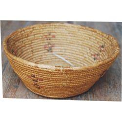 "figural North West basket, approx 9"" diameter"