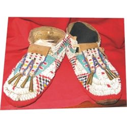 beaded North West moccasins