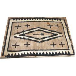73 X 48 Navajo blanket, some worn spots