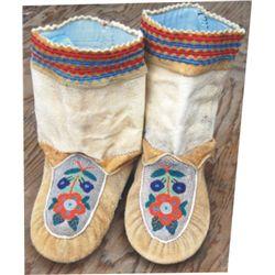 Eskimo Indian beaded moccasins
