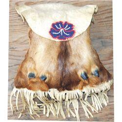 beaded mosse foot bag