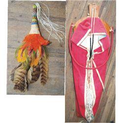 beaded dance fan & newer cradle board