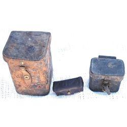 3 US leather cases, 1907 RIA cartridge box