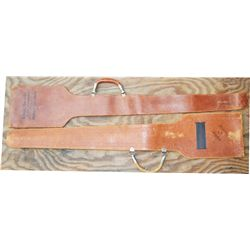 2 sword scabbards, marked Kenneth J Hahn