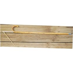 unusual horse wooden measuring cane