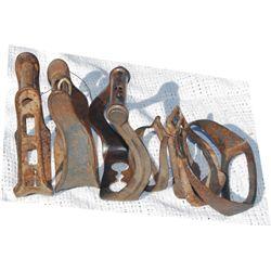 7 single iron stirrups