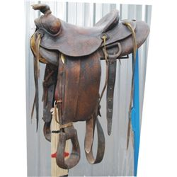 possibly a Hamley saddle, mark not legible