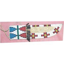 beaded Arapaho knife scabbard