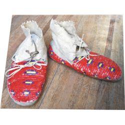 full quill moccasins, Lakota