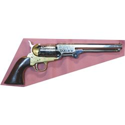 Stembridge movie studio marked engraved .44 black powder pistol