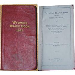 1927 Wyoming brand book