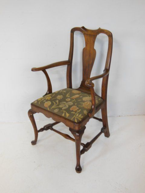 Strange Queen Anne Style Mahogany Open Arm Chair Gamerscity Chair Design For Home Gamerscityorg