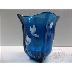 Fenton Blue Flower Vase