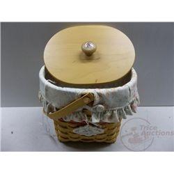 Longaberger Vintage Blossoms MD Basket 2001