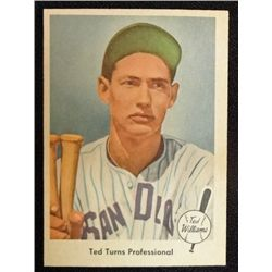 1959 Fleer Ted Williams.  Ted Turns Professional.  NM