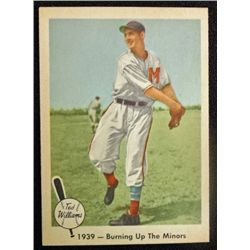1959 Fleer Ted Williams.  Burning Up The Minors.  NM