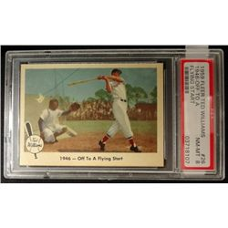 1959 FLEER TED WILLIAMS.  OFF TO A FLYING START.  PSA  NM-MT 8