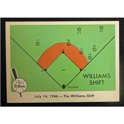 1959 FLEER TED WILLIAMS.  THE WILLIAMS SHIFT.  NM