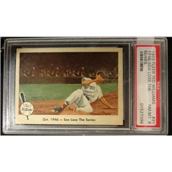 1959 FLEER TED WILLIAMS.  SOX LOSE THE SERIES.  PSA  NM-MT 8