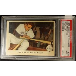 1959 FLEER TED WILLIAMS.  SOX MISS THE PENNANT.  PSA 7