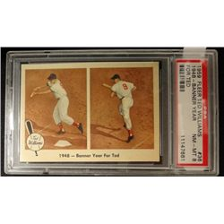 1959 FLEER TED WILLIAMS.  BANNER YEAR.  PSA 8