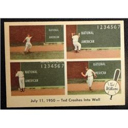 1957 FLEER TED WILLIAMS.  TED CRASHES INTO WALL.  NM