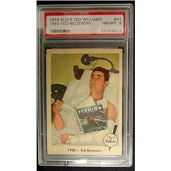 1959 FLEER TED WILLIAMS.  TED RECOVERS.  PSA 8