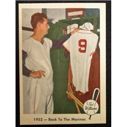 1959 FLEER TED WILLIAMS.  BACK TO THE MARINES.  NM-MT