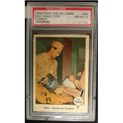 1959 FLEER TED WILLIAMS.  READY FOR COMBAT.  PSA 8