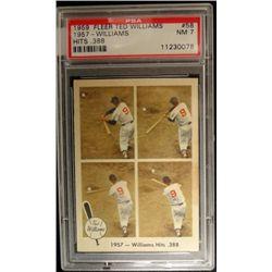 1959 FLEER TED WILLIAMS.  HITS .388    PSA NM7