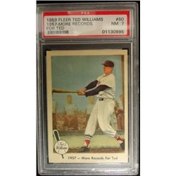 1959 FLEER TED WILLIAMS.  MORE RECORDS.  PSA 7
