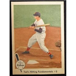 1959 FLEER TED WILLIAMS.  TED'S HITTING FUNDAMENTALS #2.  NM