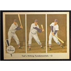 1959 FLEER TED WILLIAMS.  TED'S HITTING FUNDAMENTALS #3.  NM