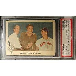 1959 FLEER TED WILLIAMS.  WILLIAMS VALUE TO RED SOX.  PSA 8