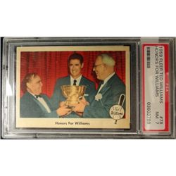 1959 FLEER TED WILLIAMS.  HONORS FOR WILLIAMS.  PSA 7