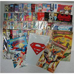 50 SUPER HERO COMIC BOOKS, TRIBE, ROBIN 3, THE ADVENTURES OF SUPERMAN