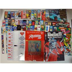 50 SUPERHERO COMIC BOOKS WEB OF SPIDER-MAN, TERMINATOR 7 ROBIN