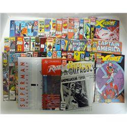 50 - SUPERHERO COMIC BOOKS BATMAN & ROBIN, SUPERMAN COLLECTORS SET