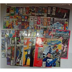 50 - MISC COMIC BOOKS WEB OF SPIDER MAN, DEATHSTROKE, THE TERMINATOR