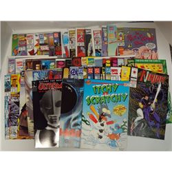 50 - MISC. COMIC BOOKS ITCHY & SCRATCHY, REN & STIMPY