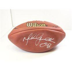 Marshall Faulk Autographed Football