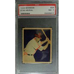1949 BOWMAN #24  STAN MUSIAL  PSA  NM7