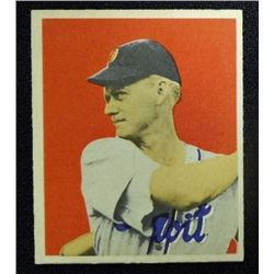 1949 BOWMAN #42  WALTER (Hoot) EVERS  ROOKIE  EX-MT