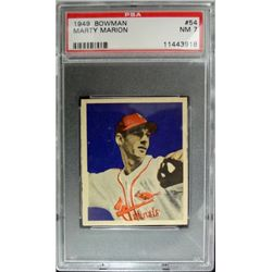 1949 BOWMAN #54  MARTY MARION  PSA  NM7