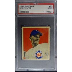 1949 BOWMAN #63  ANDY PAFKO  PSA  NM7  ROOKIE