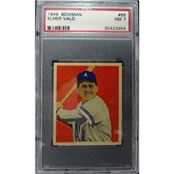1949 BOWMAN #66  ELMER VALO  PSA  NM7  ROOKIE