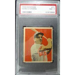 1949 BOWMAN #71  VERN (Junior) STEPHENS  PSA  NM7   ROOKIE