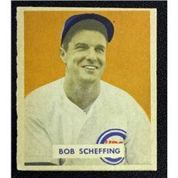 1949 BOWMAN #83B BOB SCHEFFING  EX-MT+ (NOF)  ROOKIE