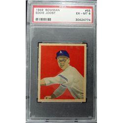 1949 BOWMAN #55  EDDIE JOOST  PSA  EM6